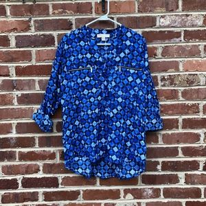 Michael Michael Kors Top Size Large Blue Diamonds